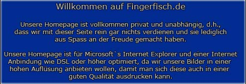 Enter FingerFisch.de